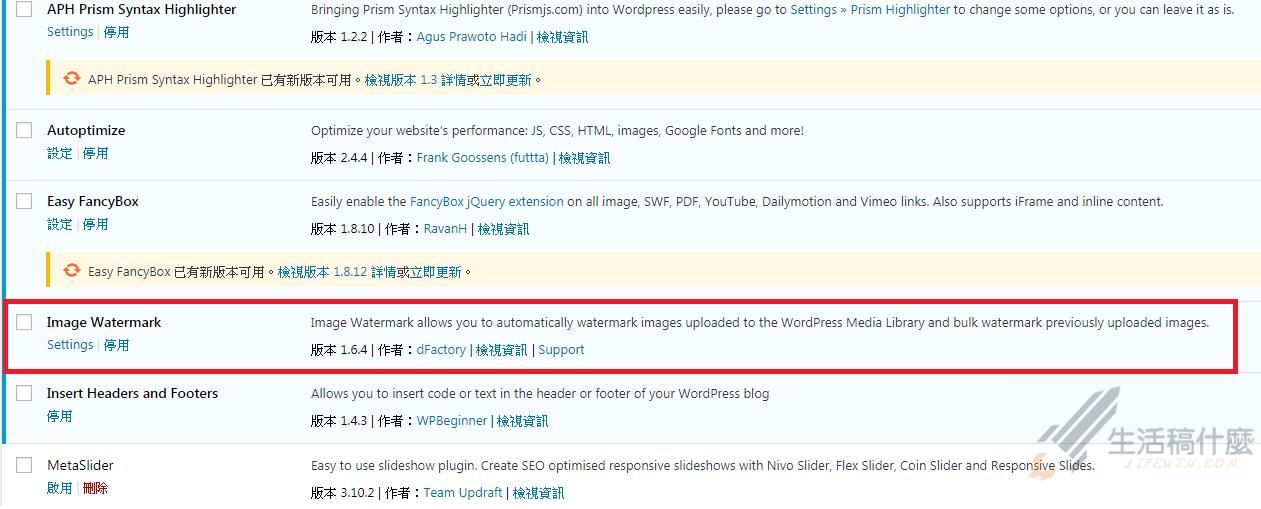 【Wordpress】使用Image Watermark讓圖片添加浮水印