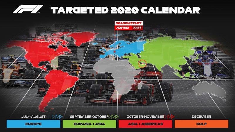F1賽程 - 2020 F1賽車賽程、車手、積分