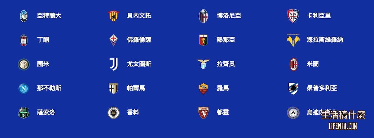 意甲直播/2021 義大利足球甲級聯賽(直播、轉播、線上看)